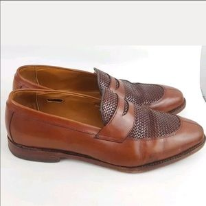 Allen Edmonds Leyland Loafers Woven Brown 13D
